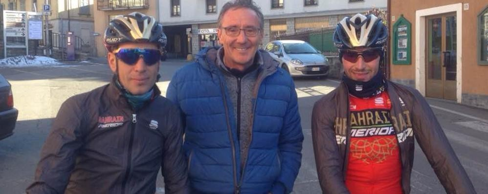 Sorpresa, i fratelli Nibali  a spasso per la Valle Intelvi