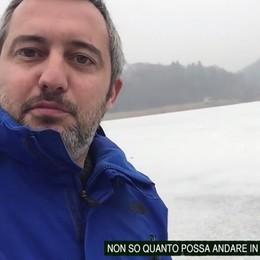 Konrad il Brianzolo sul lago ghiacciato   Qui il video: «Non dovete imitarlo»