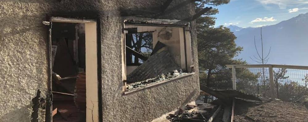 Alto Lago, torna l'allarme  per l'incendio sui monti   GUARDA IL VIDEO