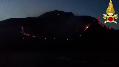L'incendio a Sorico
