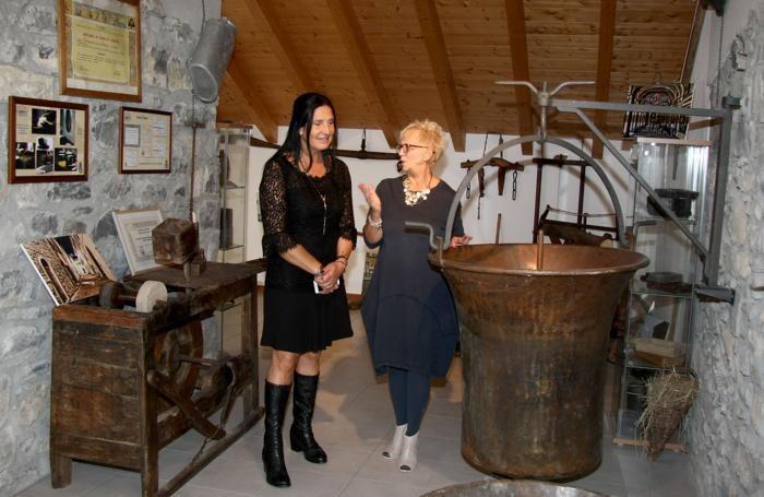 L'assessore regionale Magoni al museo del latte di Cerano