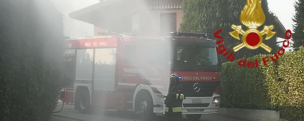 Incendio in un deposito Pompieri ad Appiano