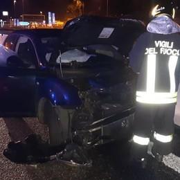 Incidente in autostrada  Un ferito a Fino Mornasco