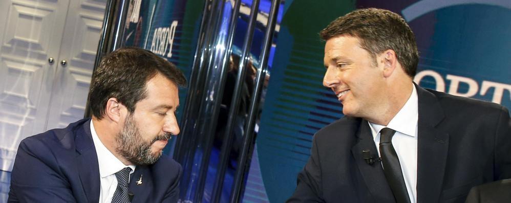 """Il duello Renzi-Salvini   due """"Franti"""" quasi amici"""