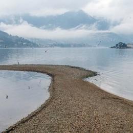 Piove, ma il lago è ai minimi  Sfiorato il record negativo