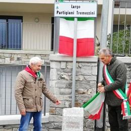 Tremezzina, inaugurato  Largo Partigiani  dopo i vandalismi nella notte
