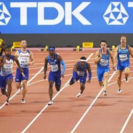 Cattaneo, record italiano 4x100 Ma niente finale iridata per gli azzurri