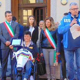 Festa per Roberta a Cermenate Campionessa di handbike