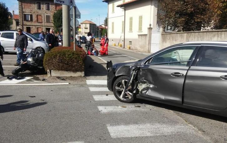 Figliaro, in moto contro un'auto  Gravissimo l'imprenditore Valli
