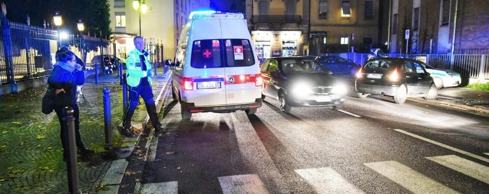 Investimento in via Borgovico Uomo ricoverato in ospedale