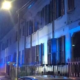 A fuoco un'abitazione Pompieri a Mariano