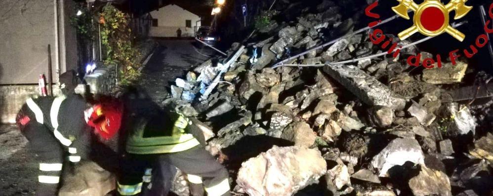 Crolla muro sopra Cernobbio  La frazione di Rovenna isolata