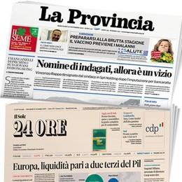 Venerdì abbinata speciale  Provincia + Sole24Ore  con il rapporto Lombardia
