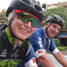 Più di 1.700 km in bici  in giro per il Vietnam  L'impresa di Cristina