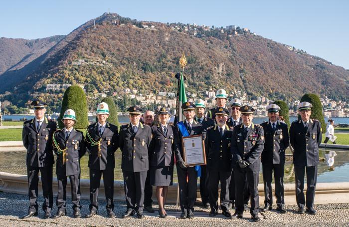 Como villa Olmo cerimonia Abbondini 2019, Polizia Locale