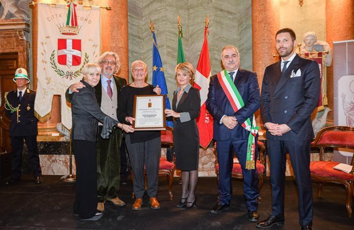 Como villa Olmo cerimonia Abbondini 2019, ritirano per la Stecca Mari Boggia, Marco Malinverno e Silvia Baratelli