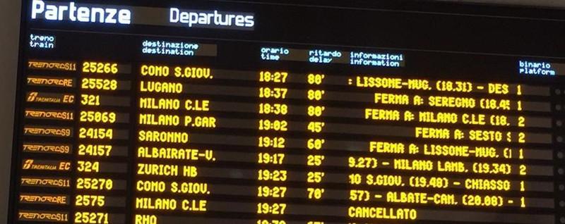 Guasto sulla linea tra Monza e Lissone Ritardi di 100 minuti e treni cancellati - La Provincia di Como