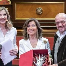 Il Senato premia il cuore di Cometa  «Con voi l'Italia è un Paese migliore»