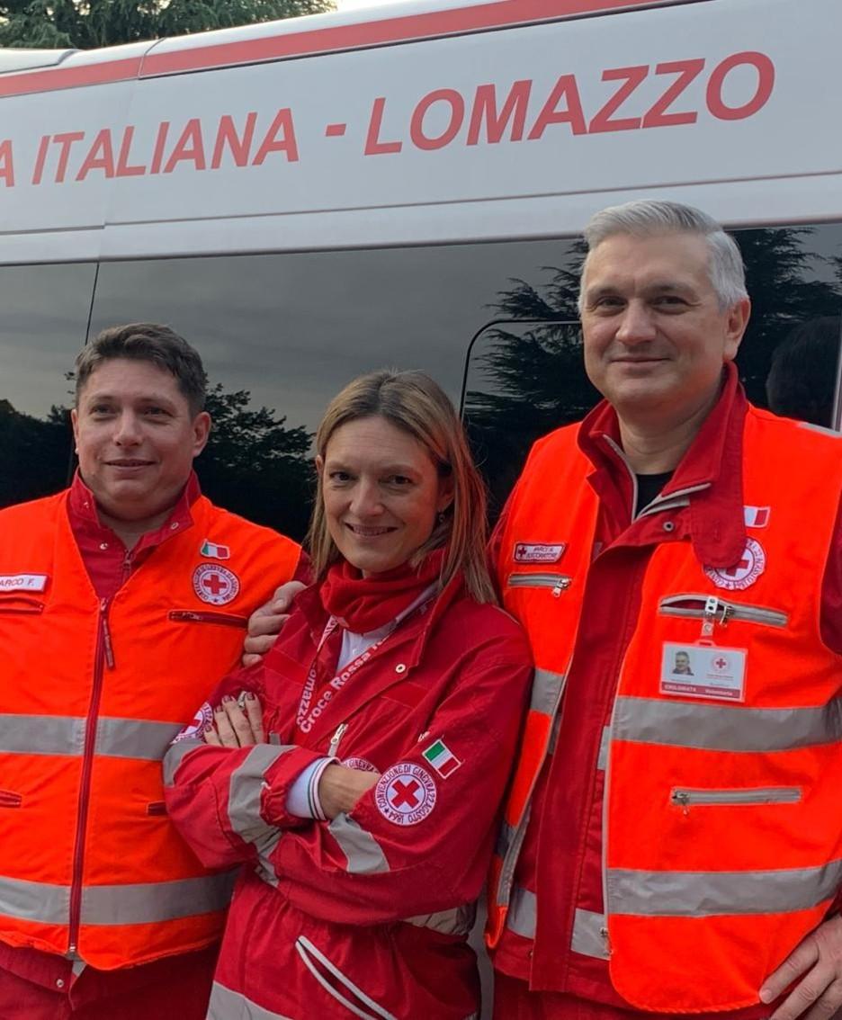 Da sinistra a destra: Marco Figini, Monica Mangiacavalli, Marco Mosca. In equipaggio, ma non in foto, anche Davide Moretti