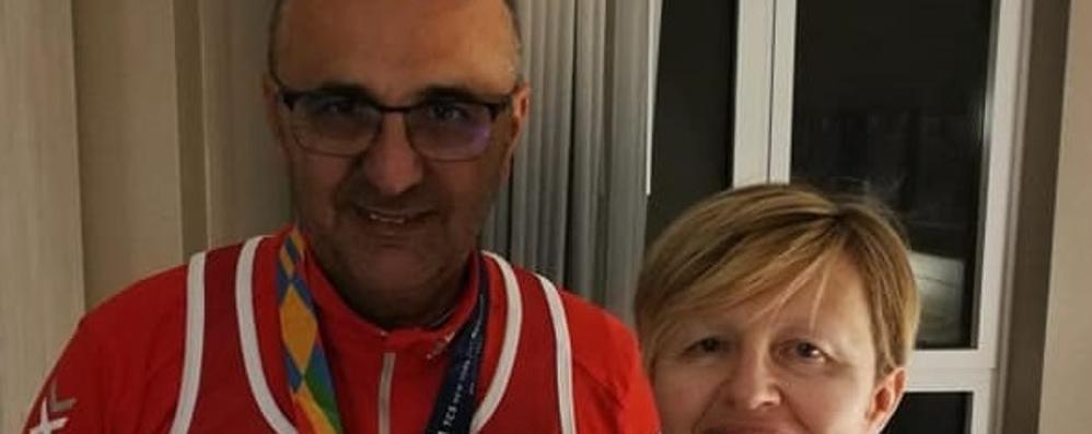 New York, maratona per due  «Ho fatto felice mia moglie»