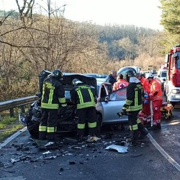 Incidente ad Alzate  Due persone ferite