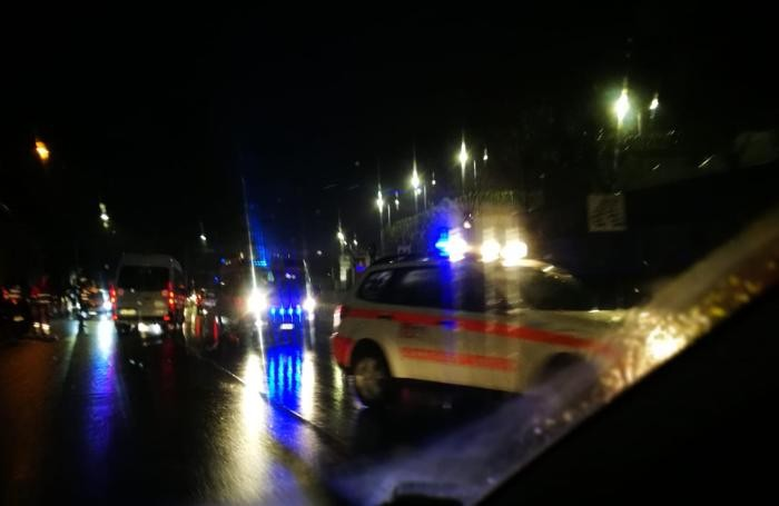 I soccorritori sul luogo dell'incidente questa mattina alle 7