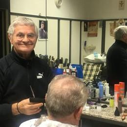 Villa Guardia, in pensione il parrucchiere   Domani l'ultimo colpo di forbice