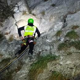 Due alpinisti comaschi in difficoltà  Recuperati allo Zucco Angelone