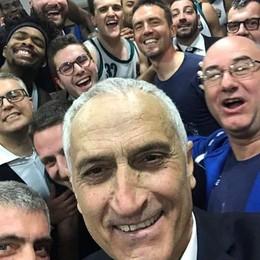 Pancotto, il derby val bene un selfie «I miei amici non ci credevano...»