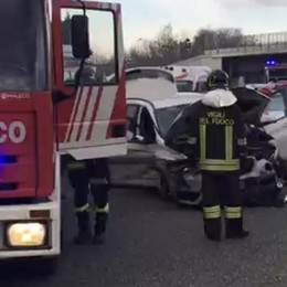 Incidente in autostrada  Code a Lomazzo verso Milano