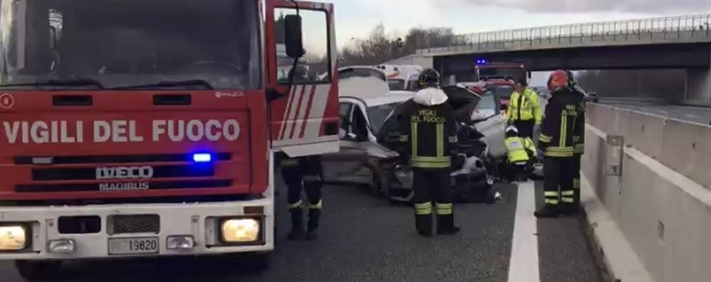Incidente in autostrada  Code a Lomazzo verso Milano