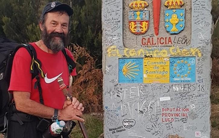 Colverde, pellegrino da record  Ha già camminato diecimila chilometri