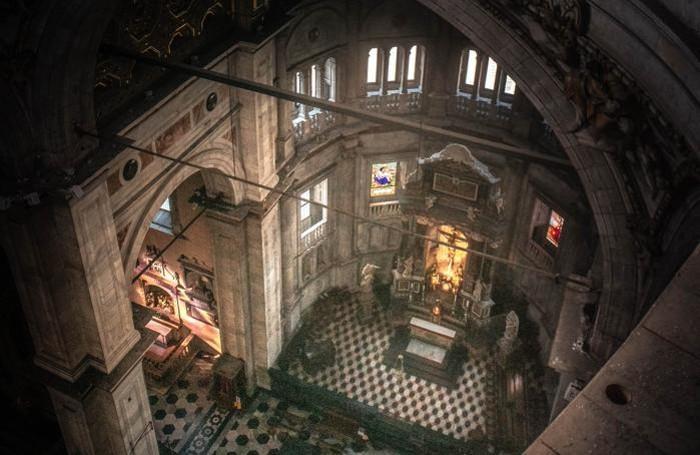 Como Duomo cantiere, sostituzione dell'impianto luci, CDC, Paolo Coduri