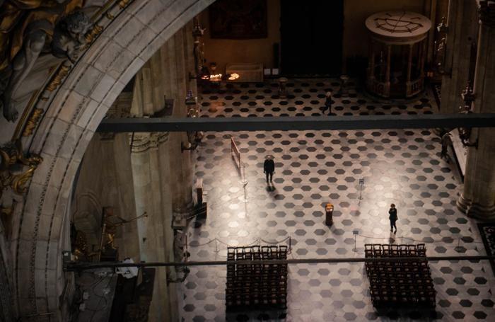 Como Duomo cantiere, sostituzione dell'impianto luci, CDC,