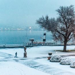 Como il parco di villa Olmo innevato, neve, nevicata