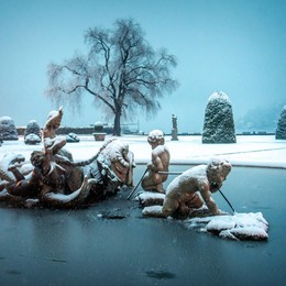 La neve a Como