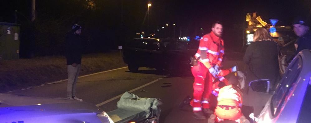 Incidente a Villa Guardia Due feriti, non sono gravi