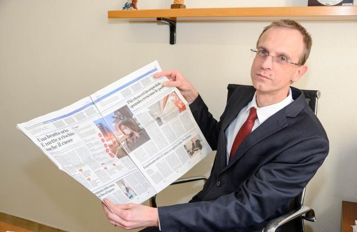 Il dottor Mauro Turconi, Segreterio Generale dell'ospedale Valduce