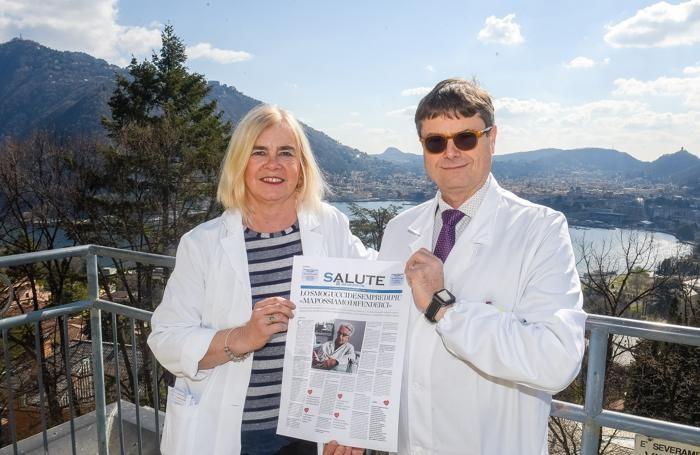 Doris Mascheroni e Pasquale Farina, dell'istituto clinico Villa Aprica