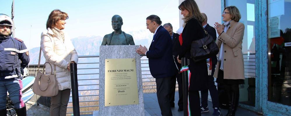 Ghisallo, inaugurato  il busto di Fiorenzo Magni