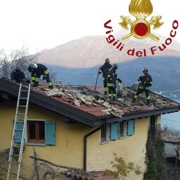 Cremia, incendio tetto  nella frazione di Colceno