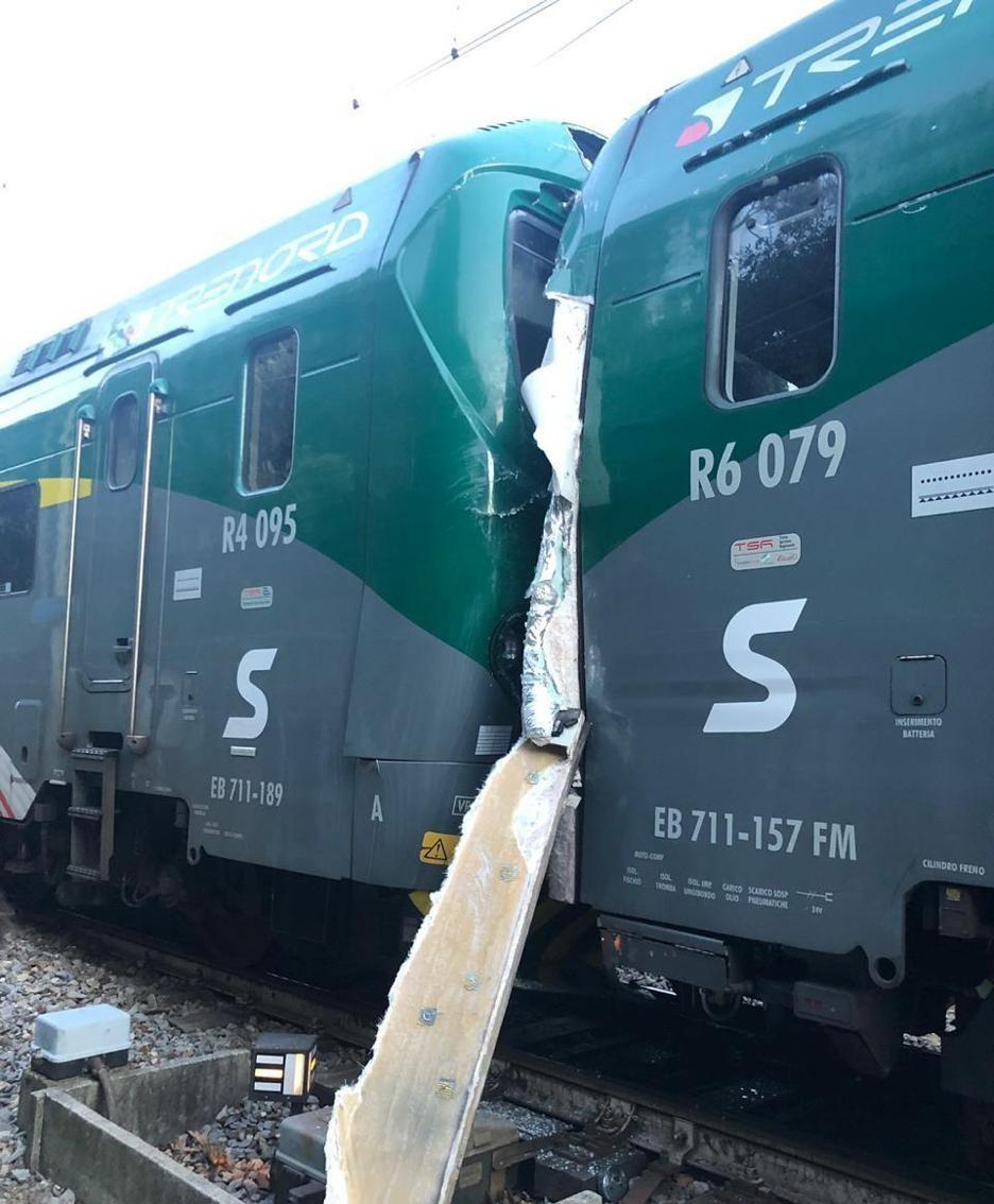 Incidente ferroviario a Inverigo Foto Giovanni Cristiani
