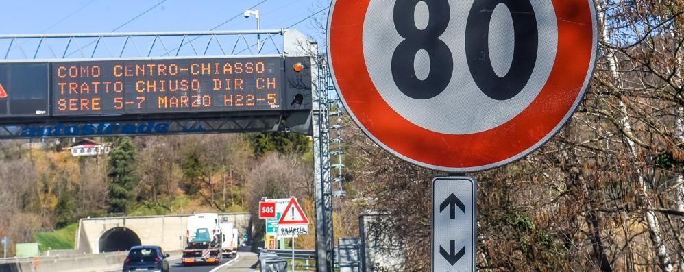 A9, a Monte Olimpino  limite di 80 orari  E l'autovelox fa strage
