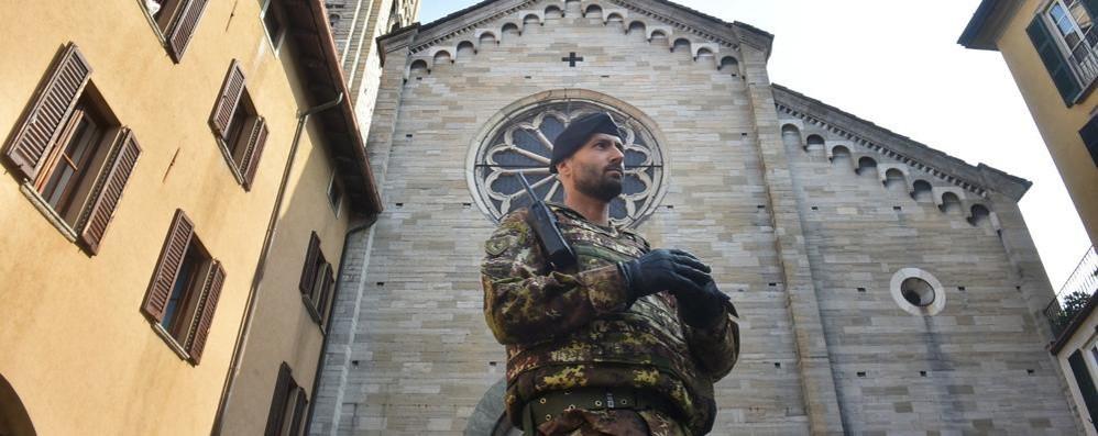 Strade sicure, i militari a Como  In città murata niente mitra