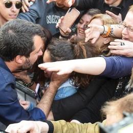 Salvini in piazza a Como «Vi restituiremo il lago»   GUARDA IL VIDEO