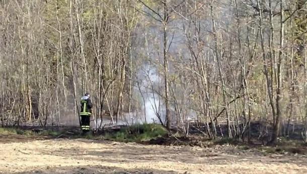 Incendio ad Andrate Arrivano i pompieri