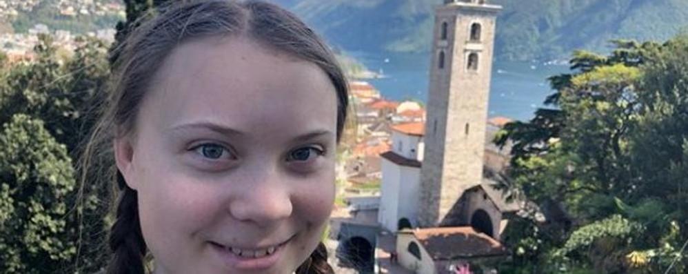 Greta Thunberg  Una foto da Lugano