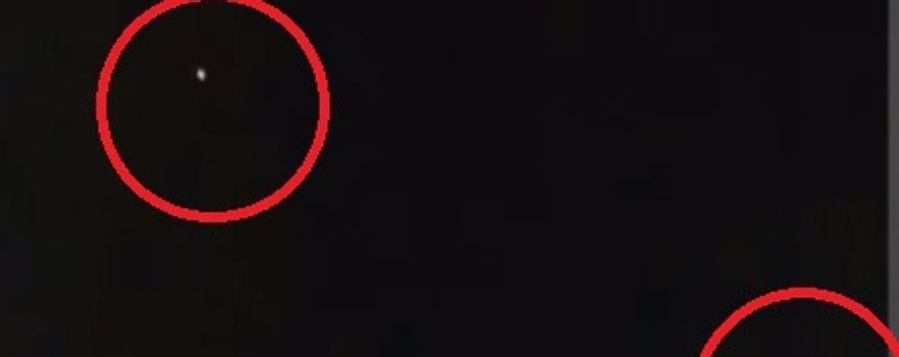 «Due ufo sopra Gironico»  E il video impazza sul web