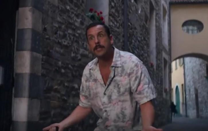 L'attore Adam Sandler in tv  Quella pizza a casa Clooney