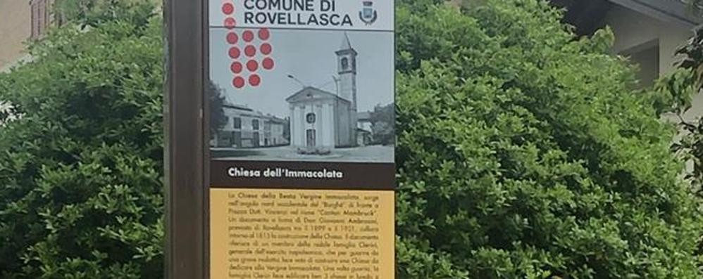 Sparito il totem a Rovellasca  Rubato prima di essere inaugurato